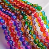 Spray painted beads
