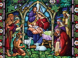 Stain Glass Nativity~