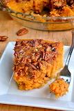 ^ Sweet Potato Pie with Pecans