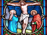Stained glass, Jesus crucifixion