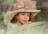 beautiful child with hat