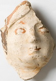 Painted Face on a Roman Figurine, 1st-2nd Century AD