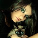 Regards-femme-chat