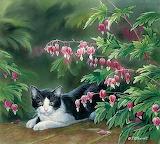 Lester & Bleeding Hearts by Susan Bourdet