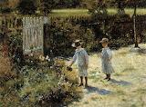 W.Podkowinski, Children in the garden, 1892