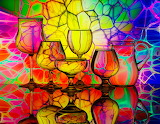 colorful glasses abstract