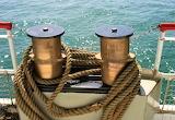rope, sea, water