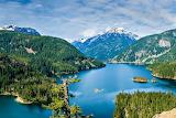 Diablo Lake Northern Cascade Mountains Washington USA