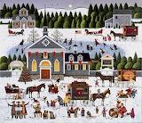 Churchyard Christmas by Charles Wysocki