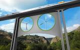 Wind turbines in viaduct