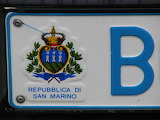 License plate, San Marino