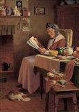 Leggendo in cucina