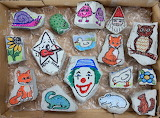 Painted Rocks in Box