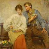 Dinner of Herbs, by George William Joy (1890)