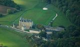 Montpoupon Castle, aerial view