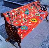 Beautifully painted bench