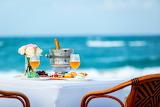 Romantic dinner at the seashore