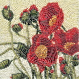 beaded poppies