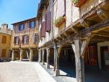medieval market town, France