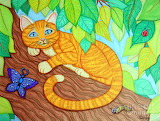 Cat-in-a-tree-drawing by nick-gustafson