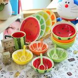 Цветная посуда для детей