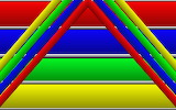 Abstract, colorful lines and strips
