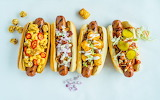 ^ Hot dogs