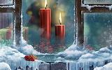 Fenêtre de Noël-décor