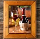 Cuadro con vino