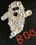 Ghostly Button Art