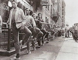West Side Story Cast Warming up