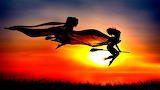 Bewitching silhouette art broom two high contrast hd-wallpaper-1