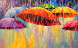 Colours-colorful-dancing-umbrellas-paintings-by-Olha-Darchuk