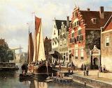 Dutch Canal Scene-Willem Koekkoek