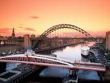 Tyne Bridge and Swing Bridge Newcastle Upon Tyne United Kingdom