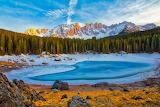 Italy-dolomites-carezza-lake
