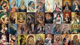 Christianity-religion-collage-Jesus Christ-Virgin Mary-artwork