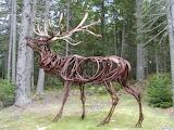 Metal Garden Sculpture ME Botanical Gdns