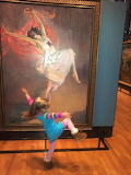 Little girl moved by art