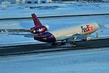 FedEX MD-11 landing at Anchorage