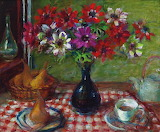 Margaret Olley, Anemones and Pears, 2005