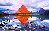 #Reflection Mount Grinnell Glacier National Park