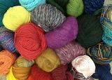Lots of colorful yarn