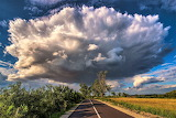 Huge cloud over Romanian road