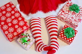Santas-elf-red-white-stockings-gift-boxes-Christmas
