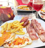 Bacon Eggs Fries and Sangria