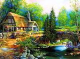 Beautiful-cottage-landscape-desktop-wallpaper