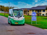 """Self-propelled"" bus, Aalborg Denmark"