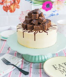 Toffee chocolate brownie cake