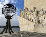 Lisbon, Portugal, sailors monument, sea, sculpture